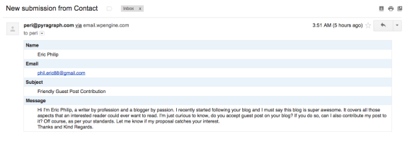 Specialty Spam: Guest Blog Requests