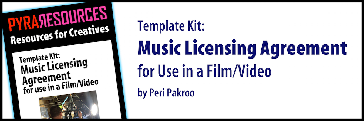 Music Licensing Agreement For Use In A Film Video Template