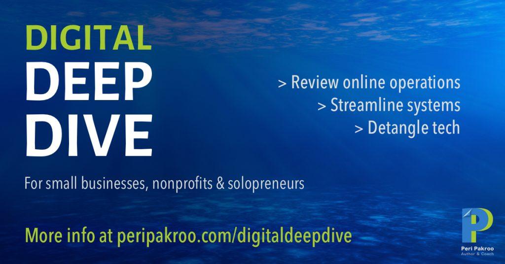 Digital Deep Dive - Peri Pakroo, Author and Coach