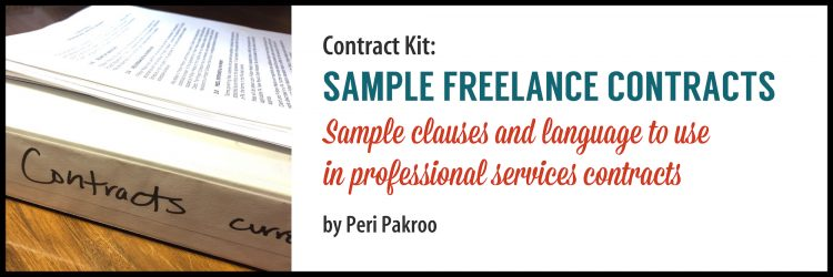 Sample Freelance Contracts - Peri Pakroo, Author and Coach